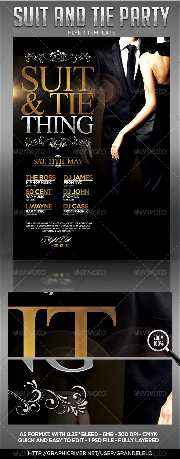 Suit and Tie - Clubs & Parties Events