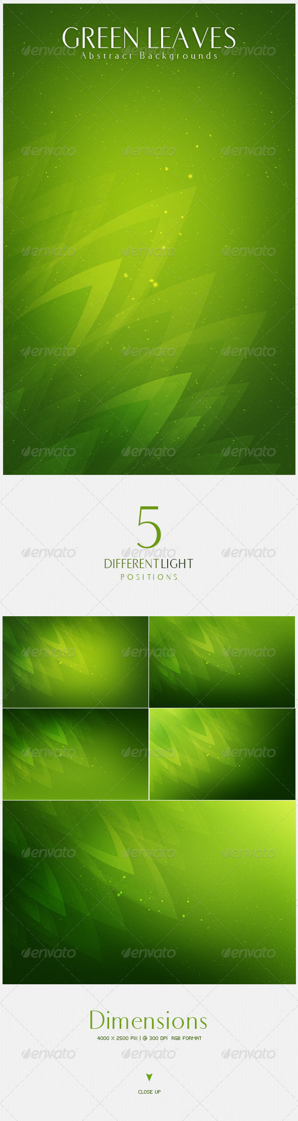 Green Leaves  Abstract Backgrounds | v2 - Nature Backgrounds