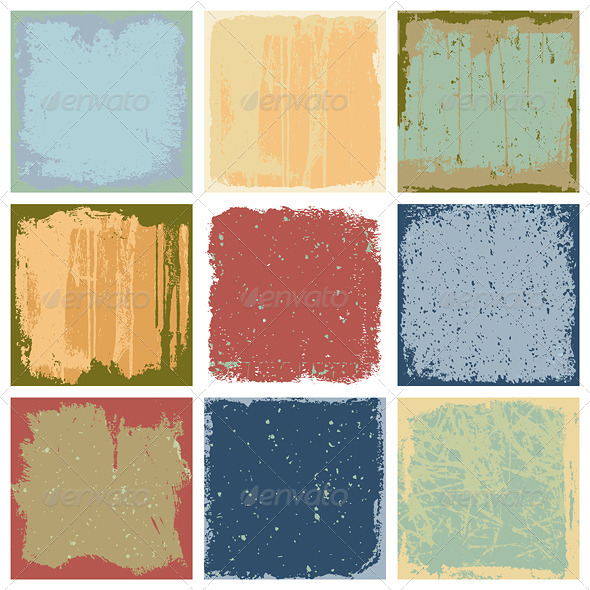 Grunge Square Backgrounds Vector - Backgrounds Decorative
