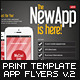 Mobile App Flyers Template v.2 - GraphicRiver Item for Sale