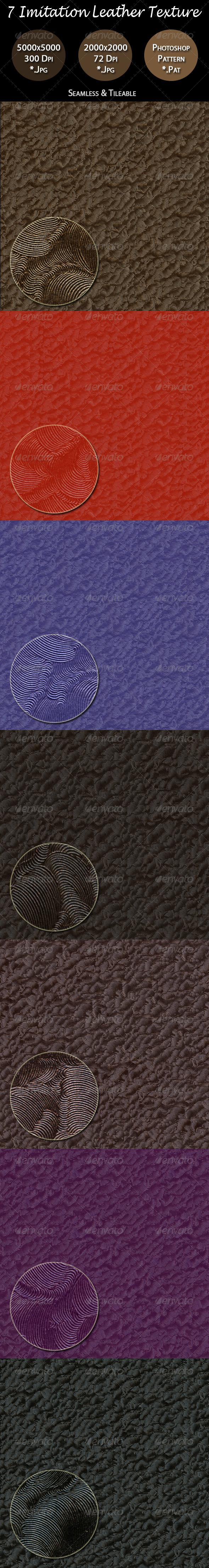 7 Imitation Leather Texture Pack - Fabric Textures