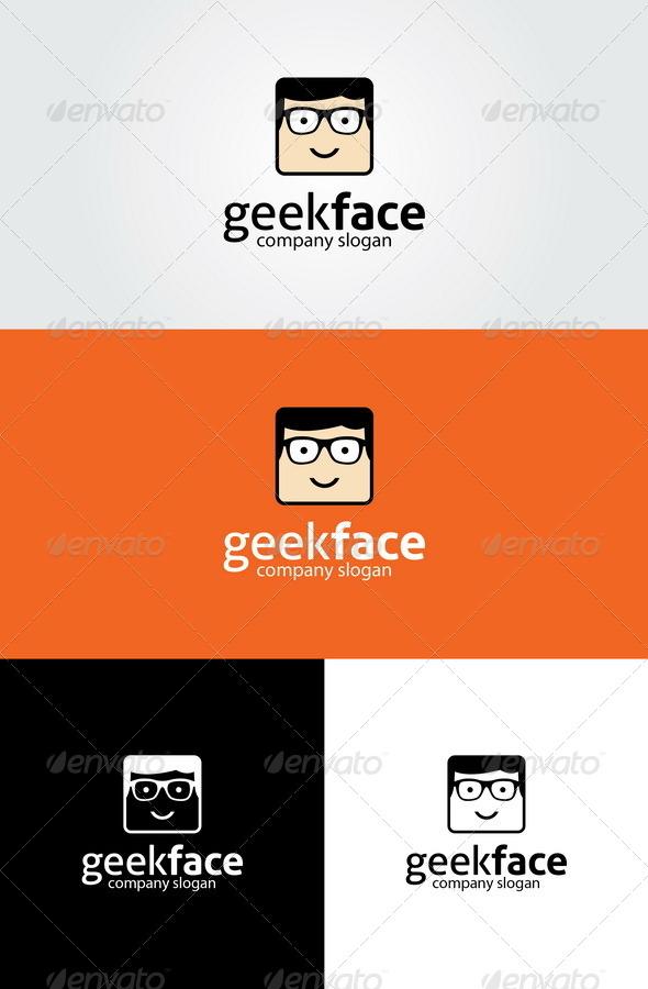 Geek Face Logo Template - Humans Logo Templates