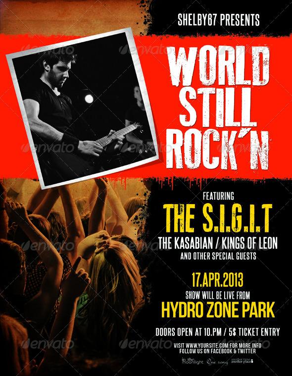 Indie Rock Flyer / Poster Vol.5
