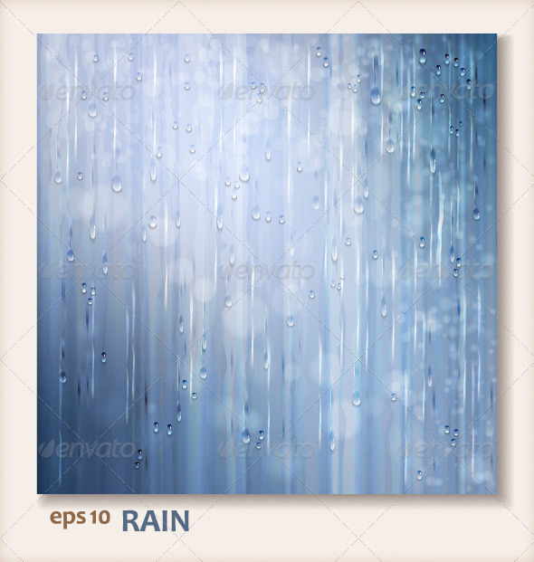 Grey Shiny Rain. Abstract Water Background Design - Abstract Conceptual