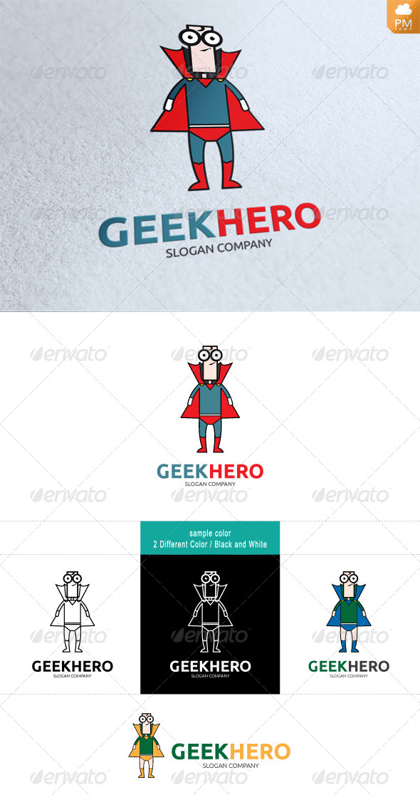 Geek Hero - Humans Logo Templates