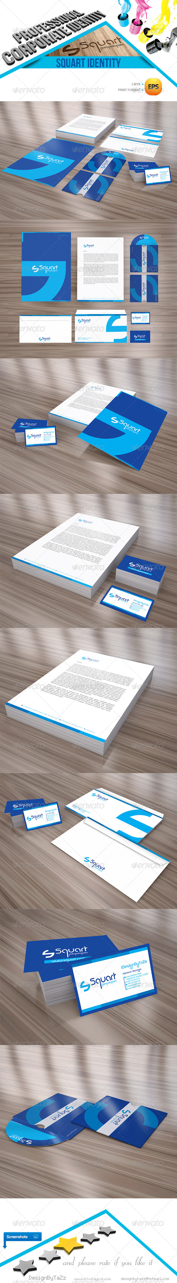 Squart Corporate Identity Package - Stationery Print Templates