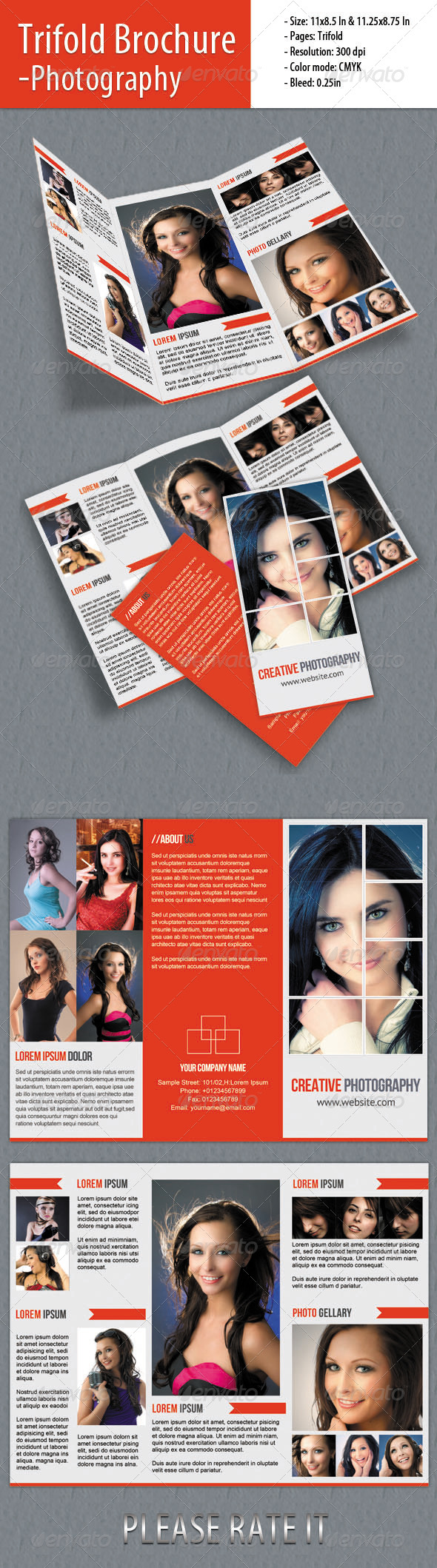Trifold Brochure -Photography - Portfolio Brochures