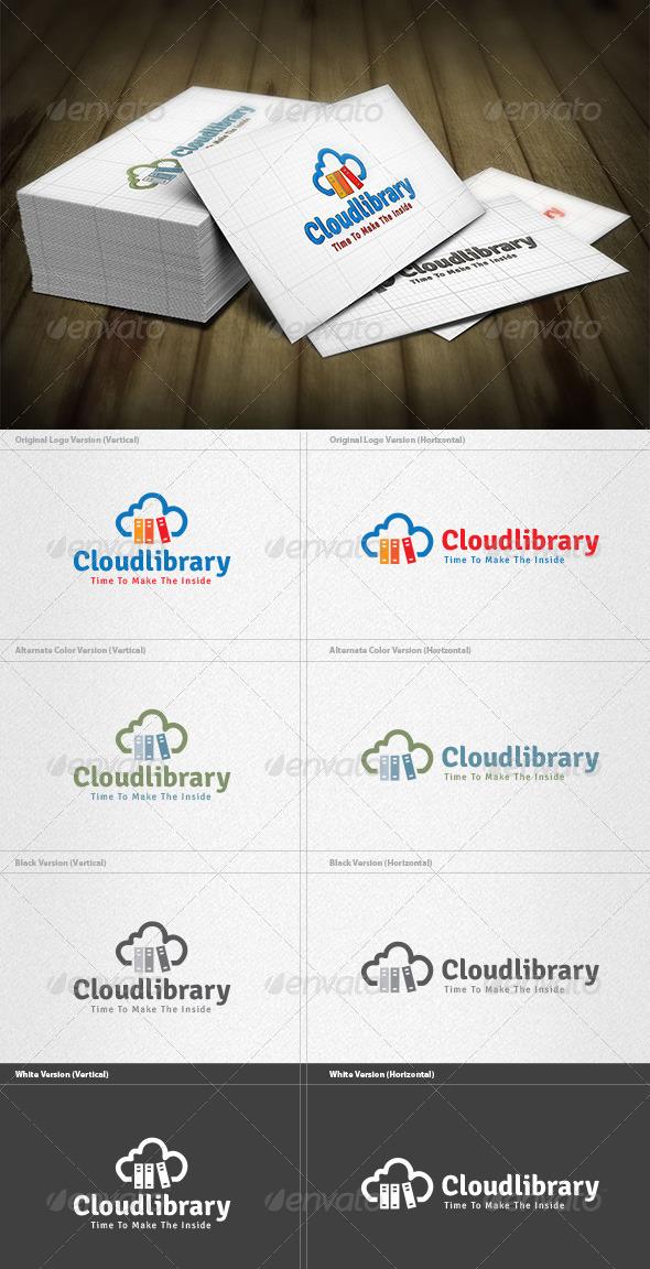 Cloud Library Logo - Symbols Logo Templates