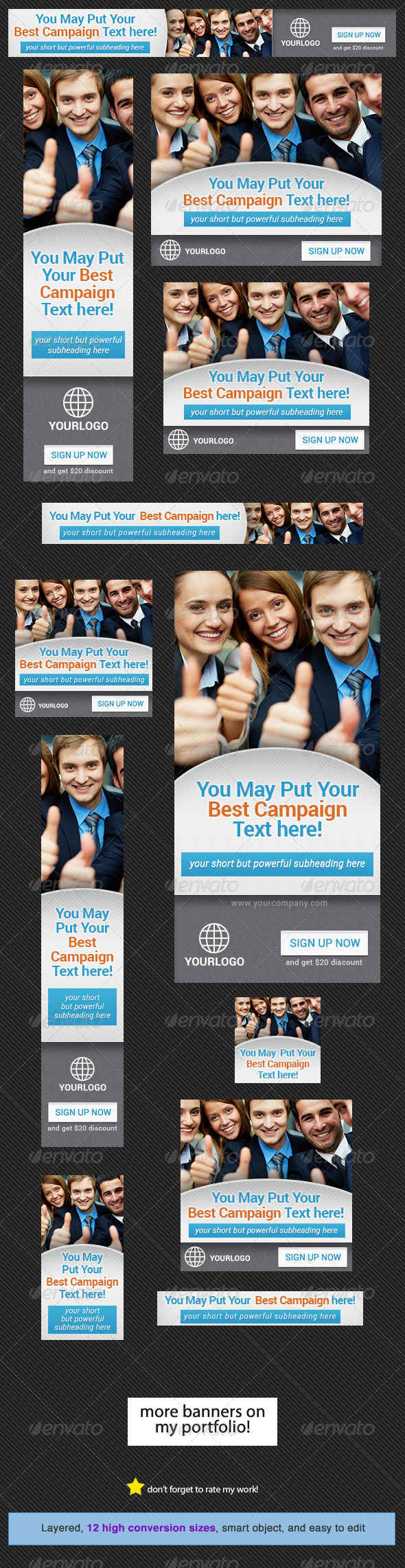 Corporate Banner Design Template 9 - Banners & Ads Web Elements