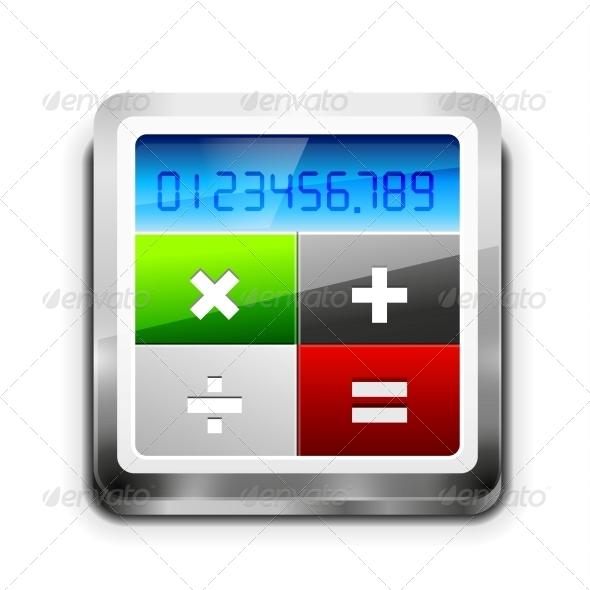 Vector Calculator Icon  - Web Elements Vectors