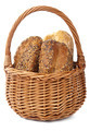 healthy bread in basket isolated - PhotoDune Item for Sale