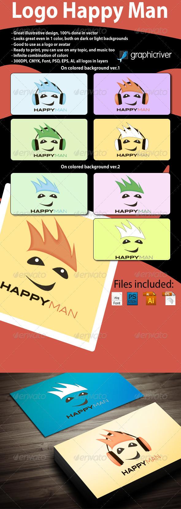 Logo Happy Man - Humans Logo Templates