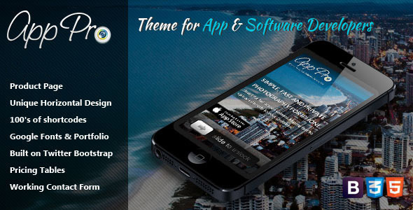 App Pro – Theme for App & Software Developers