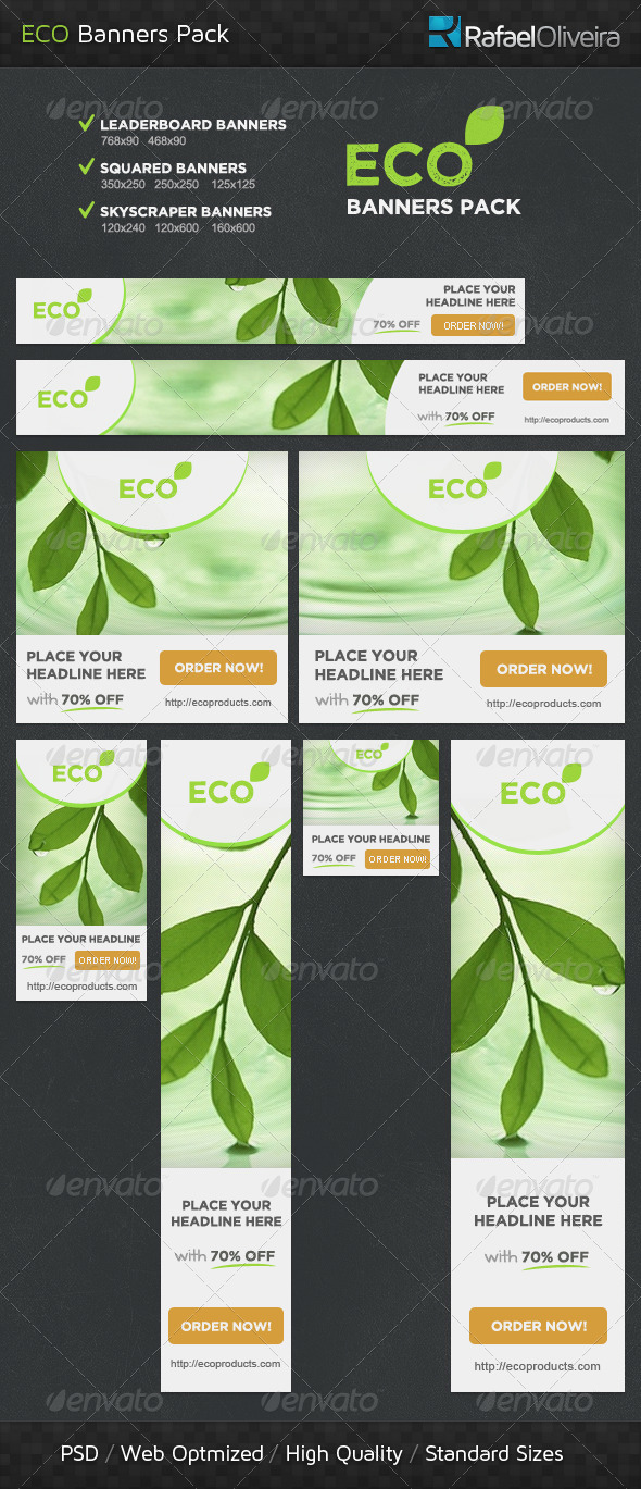 Eco Banners Pack - Banners & Ads Web Elements