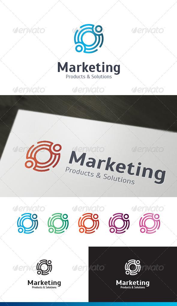 Marketing Service Logo Template - Vector Abstract