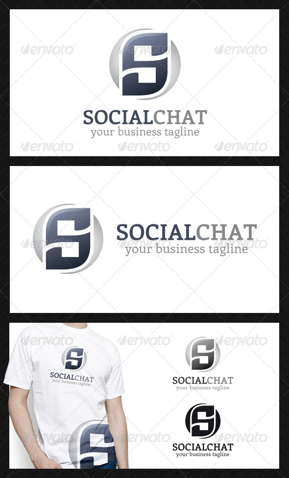 Social Quotes Chat Logo Template - Letters Logo Templates