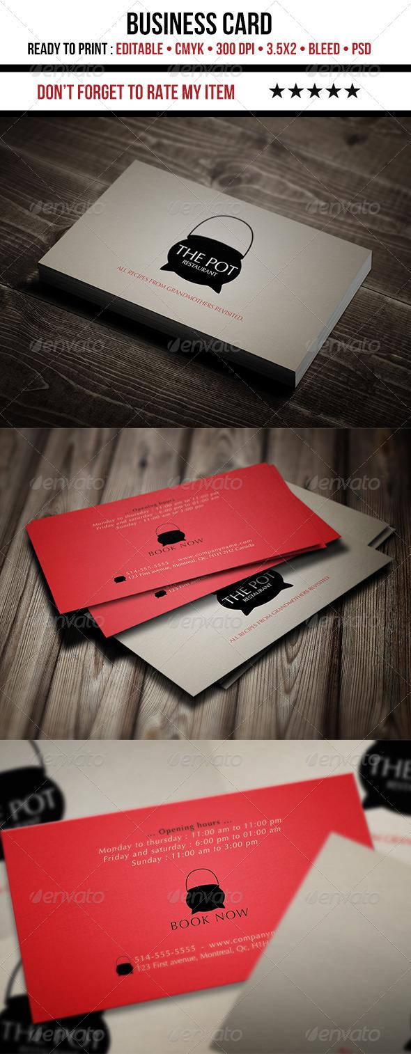 Restaurant Business Card - Creative Business Cards
