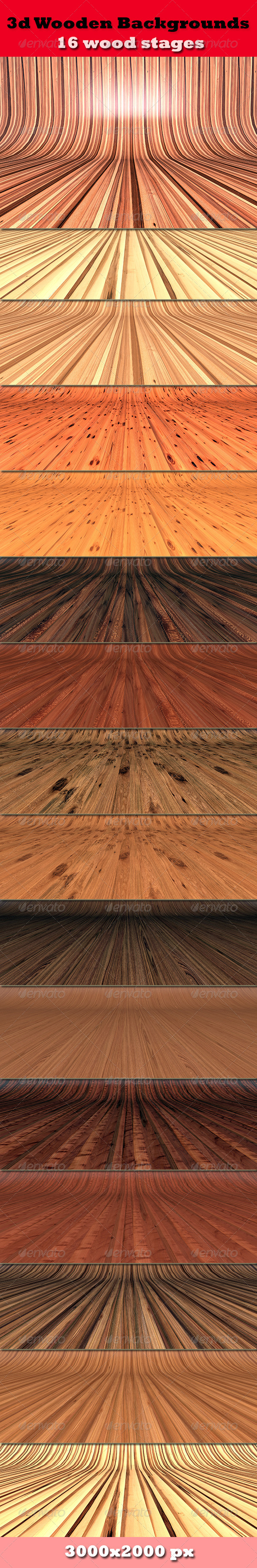 3D Wooden Backgrounds - Nature Backgrounds