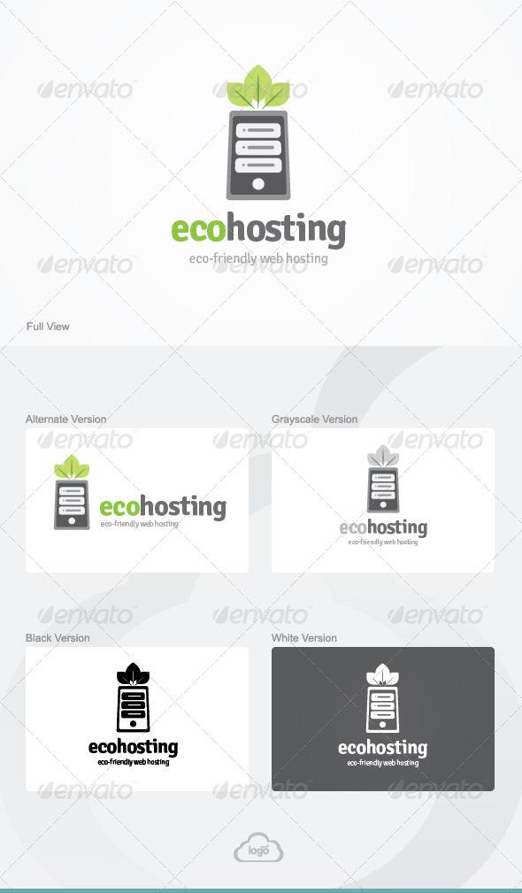 Eco Hosting Logo Template - Symbols Logo Templates