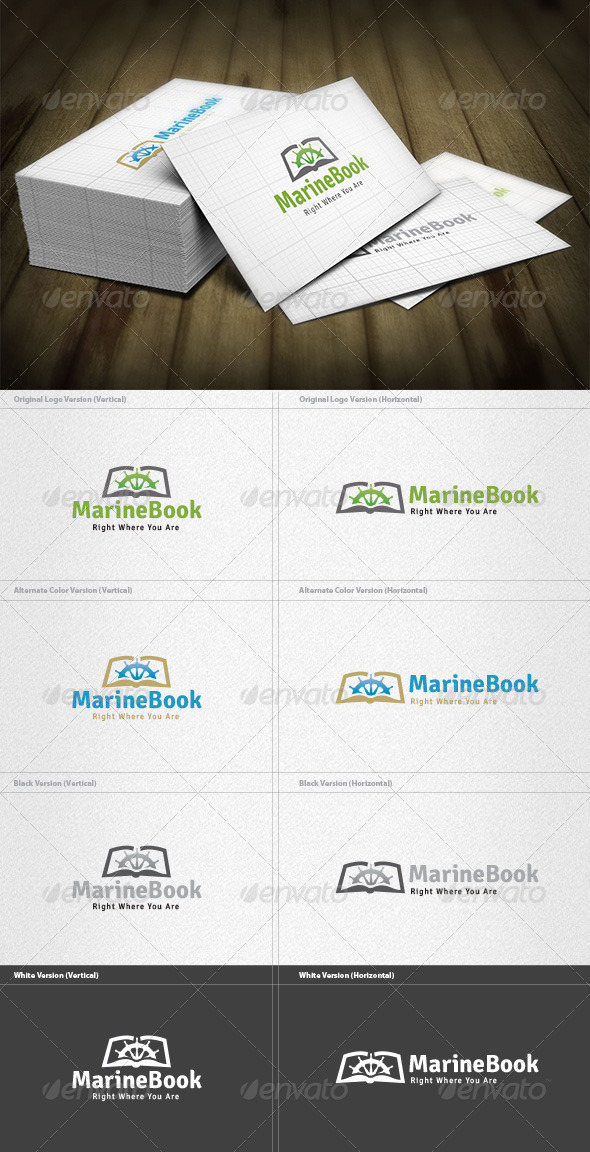 Marine Book Logo - Objects Logo Templates