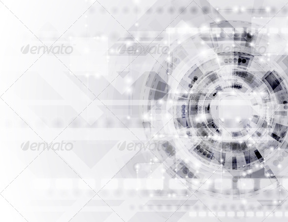 Abstract Modern Technology Vector Template - Backgrounds Decorative