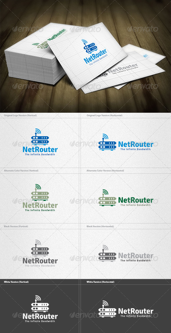 Network Router Logo - Objects Logo Templates