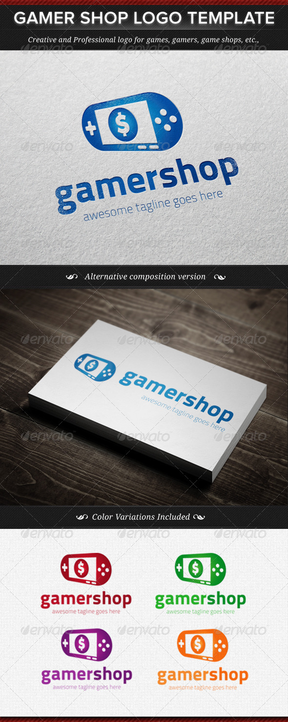 Gamer Shop Logo Template - Objects Logo Templates