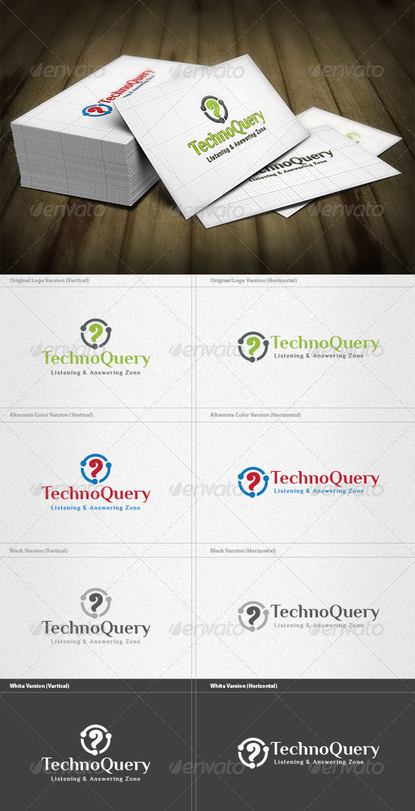 Techno Query Logo - Vector Abstract