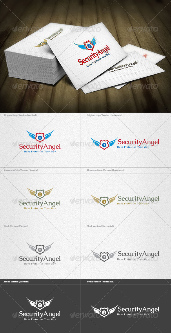 Security Angel Logo - Crests Logo Templates