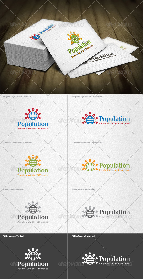 World Population Logo - Humans Logo Templates