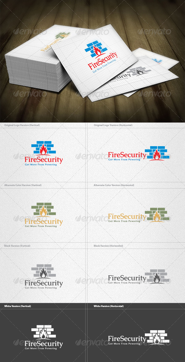 Fire Wall Logo - Symbols Logo Templates