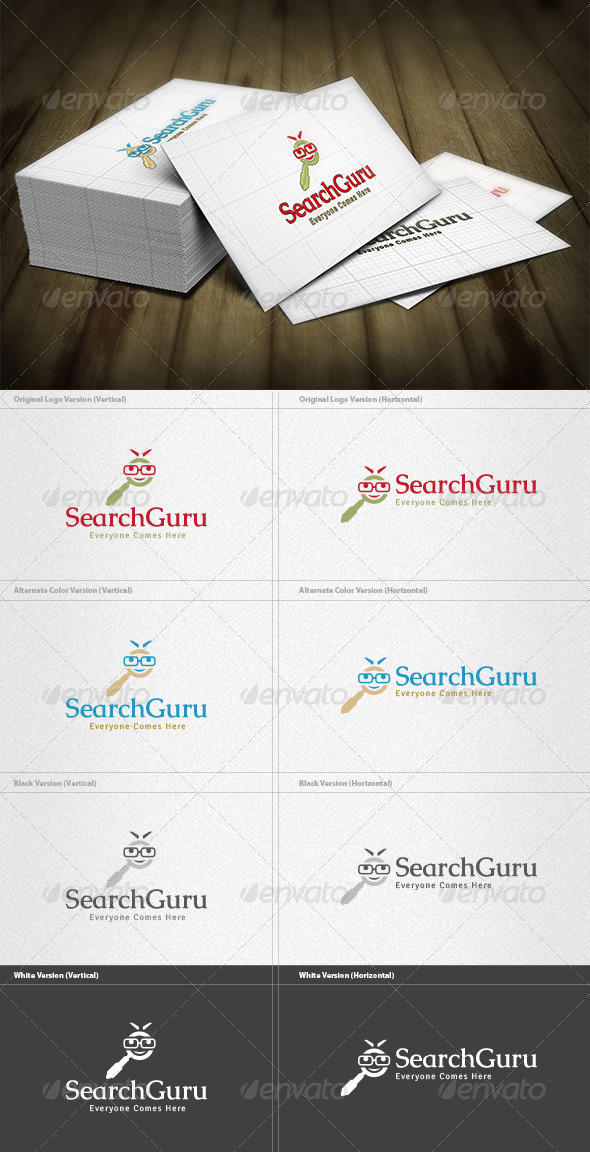 Search Guru Logo - Humans Logo Templates