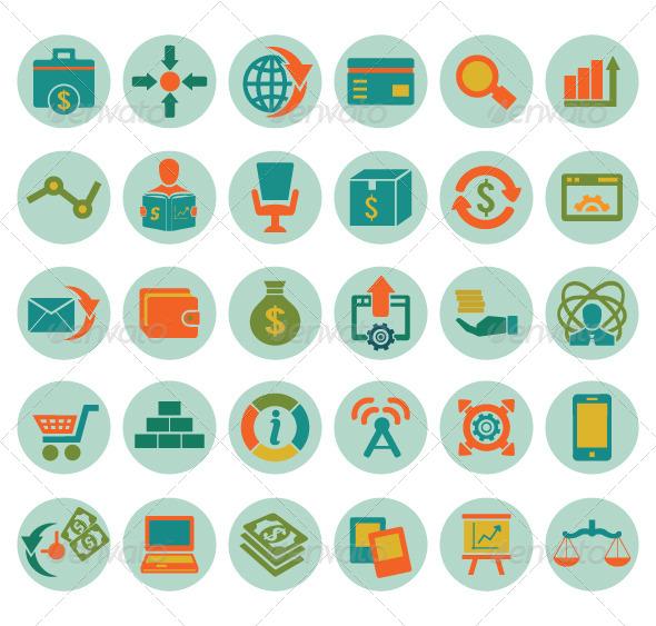 Set of social media marketing icons - Media Icons