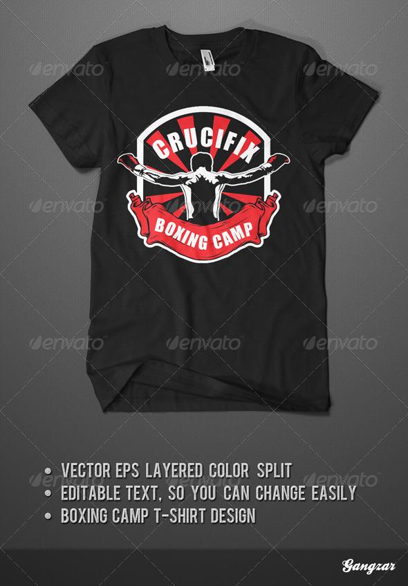 Boxingt Camp T-Shirt Template - Sports & Teams T-Shirts