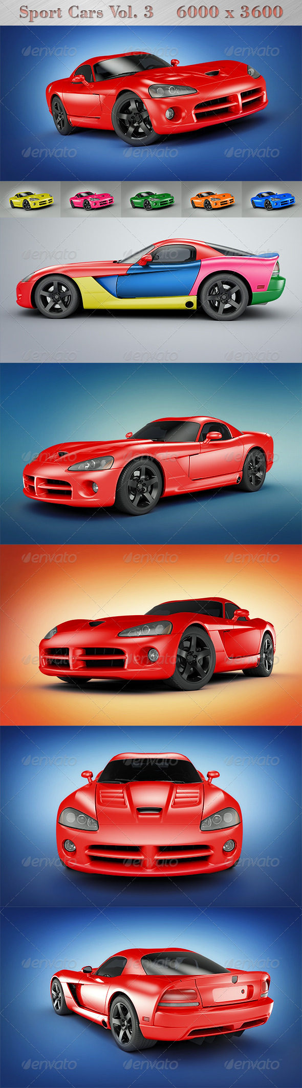 Sport Cars Vol.3 - Objects 3D Renders