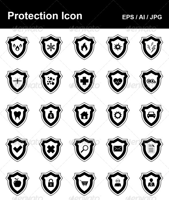 Protection Icons - Objects Vectors