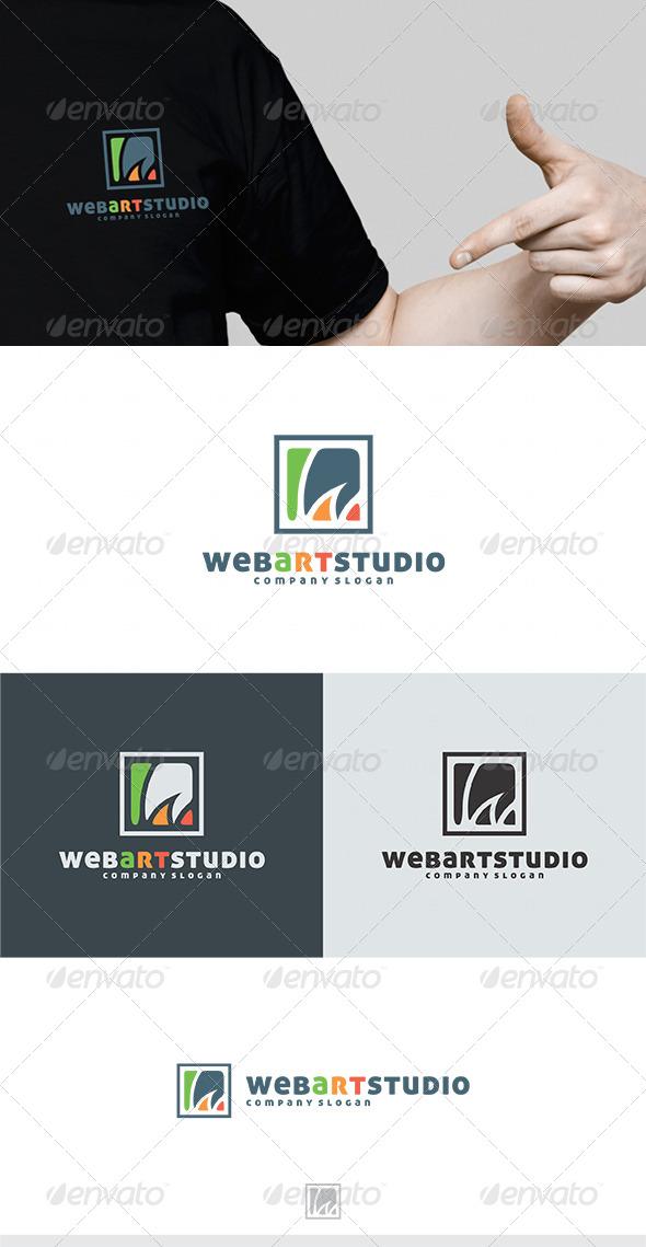 Web Art Studio Logo - Letters Logo Templates