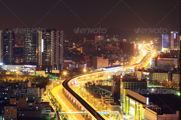 the traffics on the street - Stock Photo - Images