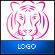 Lady Tiger Logo Template - GraphicRiver Item for Sale