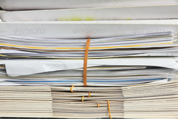 documents and folders - Stock Photo - Images
