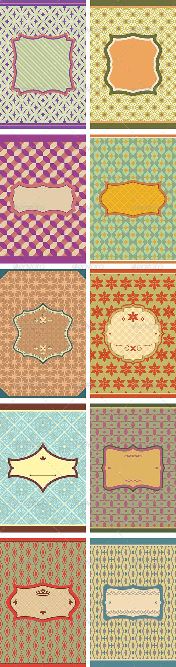 Set of Frames - Borders Decorative