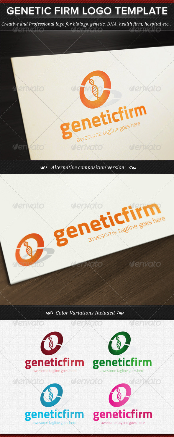 Genetic Firm Logo Template - Objects Logo Templates
