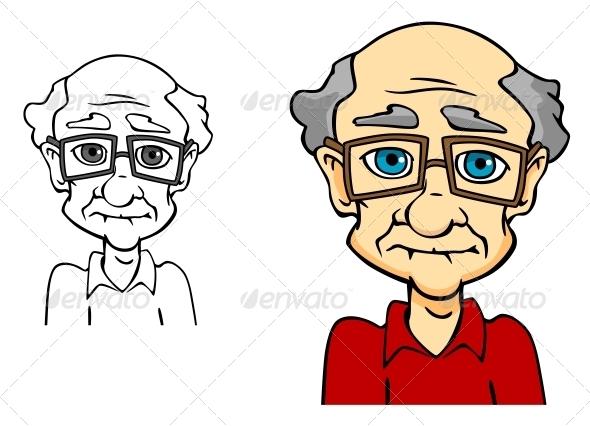Senior Man - People Characters