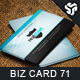Business Card Design 71 - GraphicRiver Item for Sale