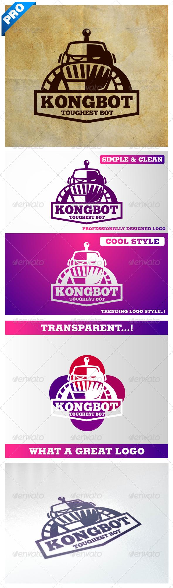Vintage Retro Robot V.2 / Kongbot  - Vector Abstract