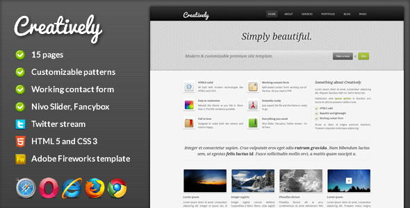 Free Download Creatively - Corporate HTML Template Nulled Latest Version