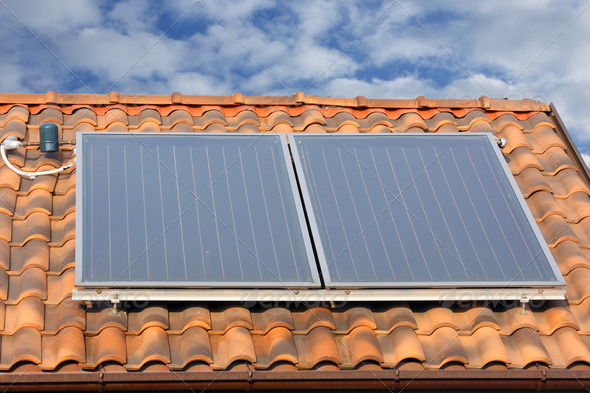 solar collector panel - Stock Photo - Images