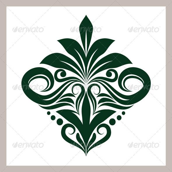 Green Ornament - Decorative Symbols Decorative