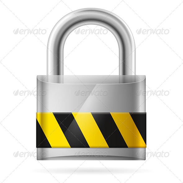 Security Concept with Locked Padlock  - Miscellaneous Conceptual
