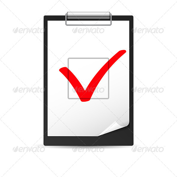 Clipboard with Checkmark - Concepts Business